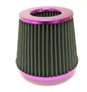 Purple Universal 4 Inlet Jdm Short Ram Turbo Cold Air Flow Intake Filter