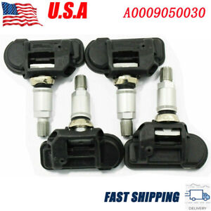 4 Pcs New Tpms Tire Pressure Monitor Sensors For Mercedes Benz Oem A0009050030