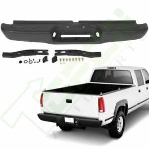 For Toyota Tacoma 1995 1999 Rear Step Bumper Assembly Black Steel With Step Pad