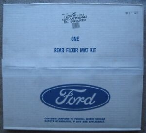 2 Vintage New Old Stock Ford Rear Carpeted Floor Mats Sandalwood Classic Car