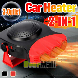 3outlet Portable Auto Heater Heating Cooling Fan Defroster Demister For Car Home