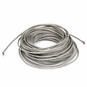 46ft Silver Tone Metal K Type Thermocouple Extension Wire