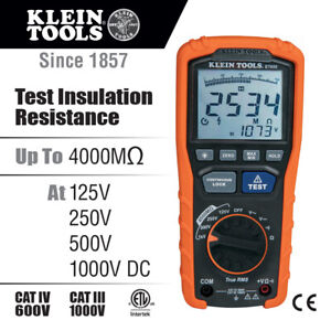 New Klein Tools Et600 Insulation Resistance Tester Megohmmeter With Case