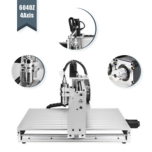 Usb 6040 4 Axis Cnc Router Machine Engraving Wood Drill milling Machine 1500w