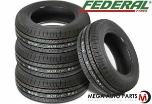 4 New Federal Ss 657 Ss657 225 60r15 96h All Season High Performance Tires