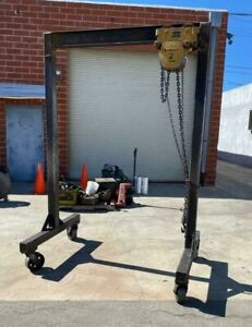 2 Ton Gantry Crane On Wheels With Budgit Manual Chain Hoist