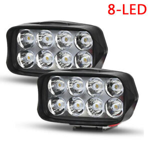 2x Led Spot Light Motorcycle Motorbike Headlight Driving Fog Lamp Truck Atv Car