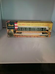 Vintage 1956 Ho Scale Revell Sl sf 4140 Flat Car With Coil Load