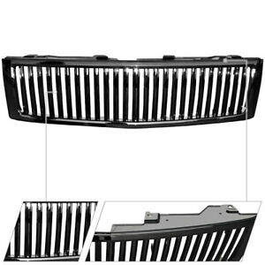 For 2007 2013 Chevy Silverado 1500 Vertical Billet Abs Back Front Hood Grille