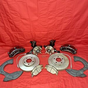 Pbr Front 5 Lug Disc Brake Full Conversion Kit For Ford Fox Mustang Gt Lx 87 93