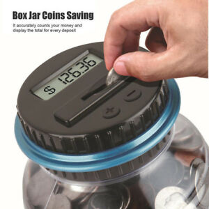 Digital Piggy Bank Coin Savings Counter Lcd Counting Money Jar just Count Usd