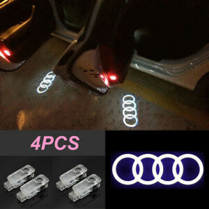 4 Led Logo Light Shadow Projector Car Door Courtesy Laser For Audi A4 a6 A8 Q5 7