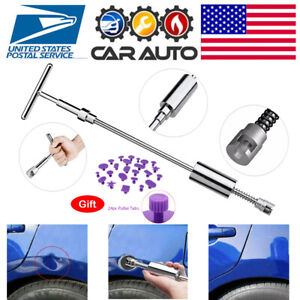 Car Paintless Dent Repair Puller Remover Kit Dint Hail Damage Slide Hammer Tool