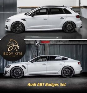 Abt Badges Set Combs For Rs3 Rs4 Rs5 Rs6 Rs7 Carbon Fibre Style