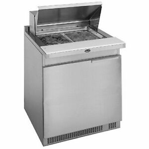 Randell 9412 32 7 Stainless Steel Refrigerated Counter salad Top 1 section