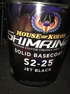 House Of Kolor Bc25 Jet Black Solid Shimrin2 Solid Basecoat Gallon