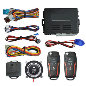 Keyless Entry Car Burglar Alarm Protection Security System One Remote Start Stop