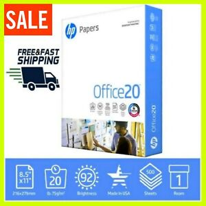 Hp Printer Paper Home Office Copy Print Letter Office20 500 Sheets 1 Ream 8 5x1