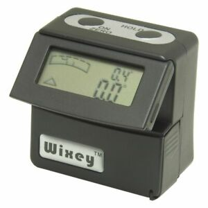 Wixey Digital Angle Inclinometer Gage And Digital Spirit Level Flip Up Display