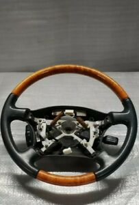 1998 Lexus Ls400 Oem Factory Woodgrain Steering Wheel