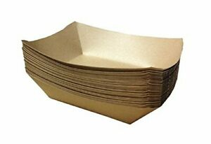 Premium Brown Disposable Paper Food Serving Tray 2 5 Lb Capacity Heavy Du