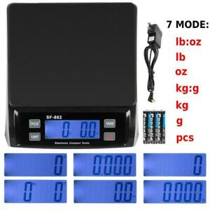 66 Lb X 0 1 Oz 30kg Digital Shipping Postal Scale Postage Weight With Ac Adapter