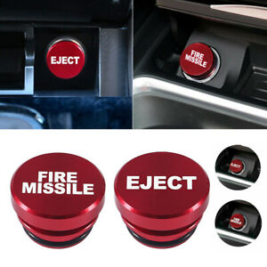 1x Universal Car Fire Missile Eject Button Car Cigarette Lighter Cover Accessory
