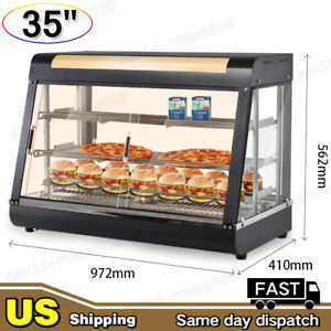 3 Tiers Commercial Food Pizza Warmer Cabinet Counter top Heated Display Case Usa