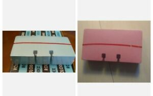 2 New Old Stock Rolodex Refill Cards 1 Pink 1 Blue Each 100 Cards 2 1 4 x4 C24