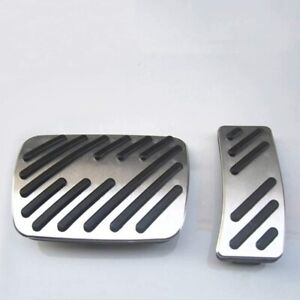 For Audi A3 Q3 Q5 Q7 A6l No Drill Brake And Gas Pedal Covers Aluminum With Logo
