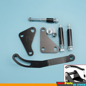 Sbc Power Steering Pump Mounting Bracket Black Fit For Swp Lwp Saginaw Chevy 350