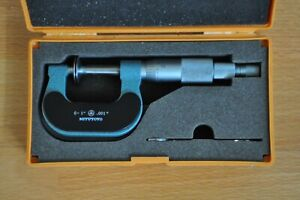 Mitutoyo Disk Micrometer 0 1 Inch Model 169 203 Non rotating Spindle