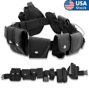 Police Officer Utility Duty Belt Security Guard Law Enforcement Equipment Gear