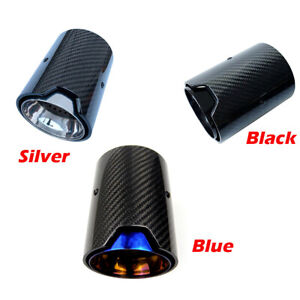 Real Carbon Fiber Exhaust Pipe Muffler Tip For Bmw M Performance Exhaust Pipe