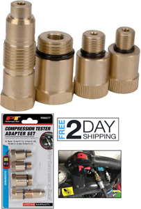 Compression Tester Adapter Set Spark Plug Most Gas Engines Necessary Size Rubber