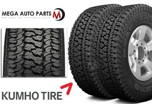 2 Kumho Road Venture At51 P235 70r16 104t All Terrain Truck 55k Mi 3pmsf Tires