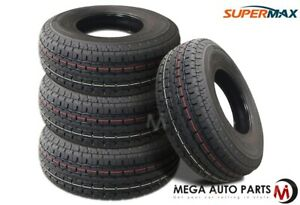 4 Supermax Stm 1 St205 75r14 100 96l 6 Ply Auto Boat Travel Trailer Hauler Tires