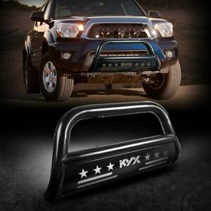 For 05 15 Toyota Tacoma 3 Bull Bar Brush Push Front Bumper 3 grille Guard