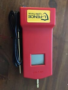 Digital Electric Fence Tester 1000v Red With Lead