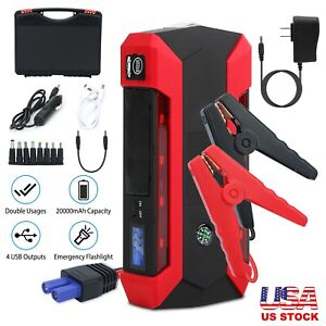 20000mah Battery Charger Car Jump Starter Booster 1000a Peak Power Bank Portable