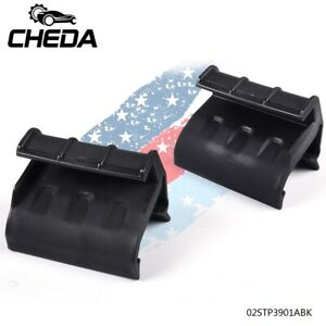Pair Rear Window Soft Top Retainers Clips For 2007 2018 Jeep Wrangler Jk Black
