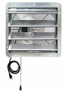 Iliving Ilg8sf16v t Wall mount Shutter Exhaust Fan 16 Variable Speed Silver