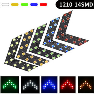 1pair Car 14 smd Led Arrow Lights For Car Side Mirror Turn Signal Universal