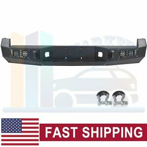 Offroad Textured Steel Rear Bumper Guard With Led Lights For 05 15 Toyota Tacoma