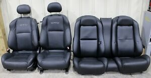 2004 2006 Pontiac Gto Black Leather Front Rear Seats Used Gm Lsx Hot Rod Swap
