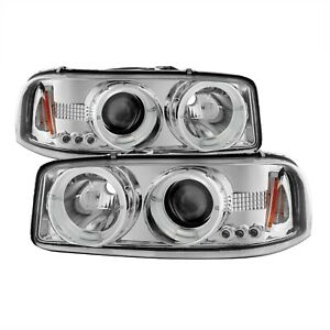 Projector Headlights For 2001 2006 Gmc Sierra 2500 Hd Spyder Auto 5009364