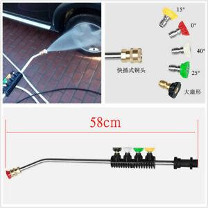 1x Pressure Car Washer Water Spray Gun Spear Quick Jet Tip Rotating Turbo Nozzle
