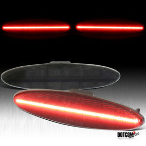 Fit 97 04 Chevy Corvette C5 Red Led Side Marker Lights Rear Smoke 4 Pieces