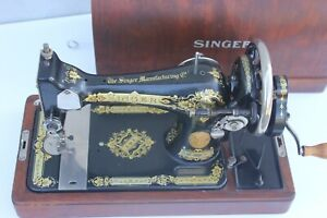 Antique Hand Cranked Sewing Machine German Sewing Machine Sewing Studio Decor W