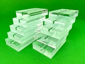 Unique Business Card Holders Box Of 10 Clear Block Of Plexiglass 3 X 2 1 2 In